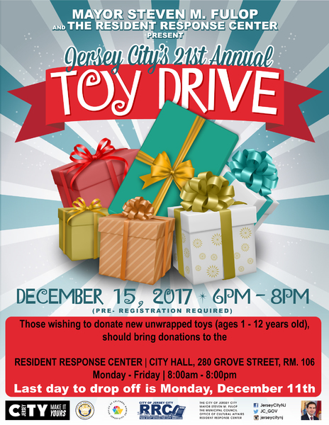 Jersey City's 21st Annual Toy Drive