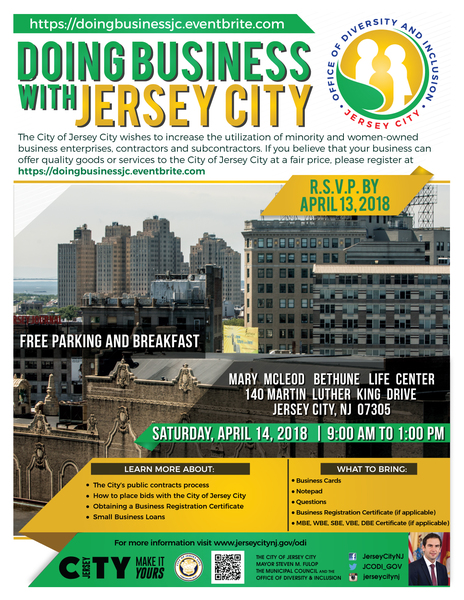 Doing Business with Jersey City April 14th