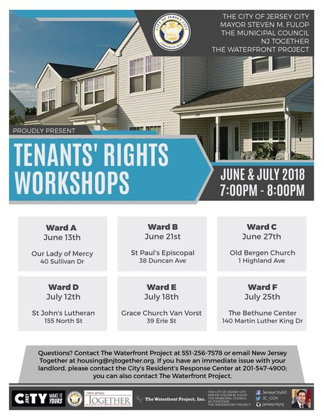 Tenants' Rights Workshops for June and July