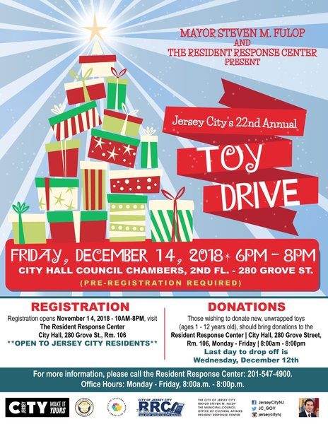 VOLUNTEERS NEEDED! 22nd Annual Jersey City Toy Drive