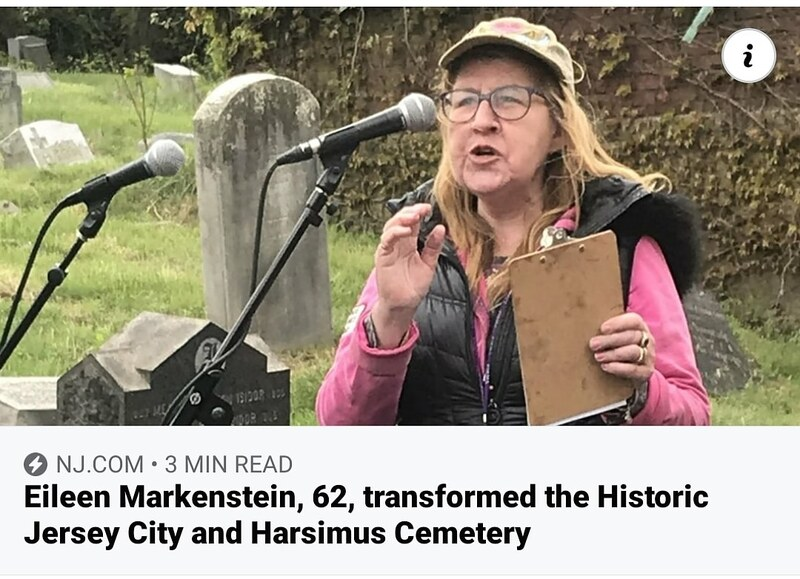 Eileen Markenstein, 62, transformed the Harsimus Cemetery