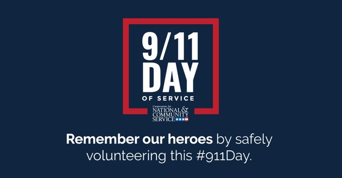 September 11th, is Patriot Day and a National Day of Service